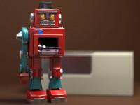 modello 3D robot vintage - WIP
