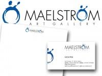 immagine coordinata galleria d'arte Maelstrom - Milano