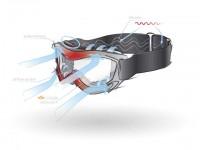 illustrazione vettoriale occhiali da sci