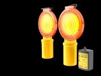 modello 3D lampeggianti a batteria