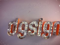 logo dgsign 3d in stile vintage