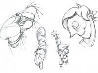 sketch a matita per studio volti characters - DGsign