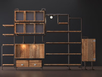 pipe bookcase by DGsign