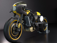 concept 3D speed motorcycle - DGsign