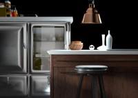 immagine cucina vintage acciaio legno e marmo - dgsign