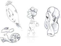 sketch a matita per studio characters - DGsign