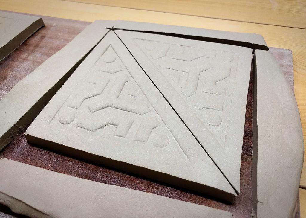 piastrelle raku triangolo texture dgsign