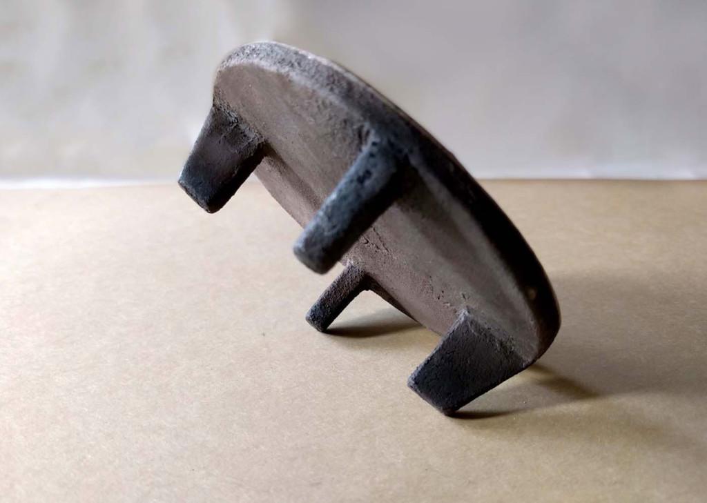 piedini di rialzo piattino raku - DGsign pottery