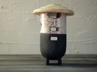 farmer - raku lantern - DGsign pottery