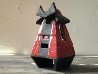 samurai raku lantern - dgsign pottery