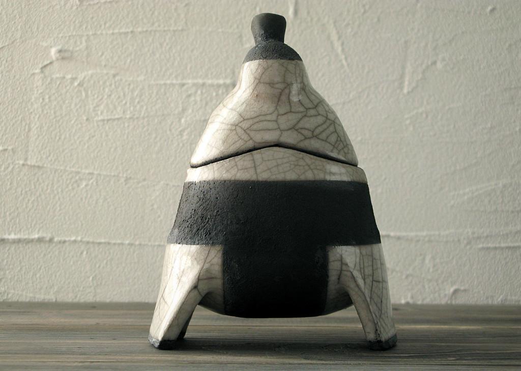 Sumo raku lantern - DGsign Pottery