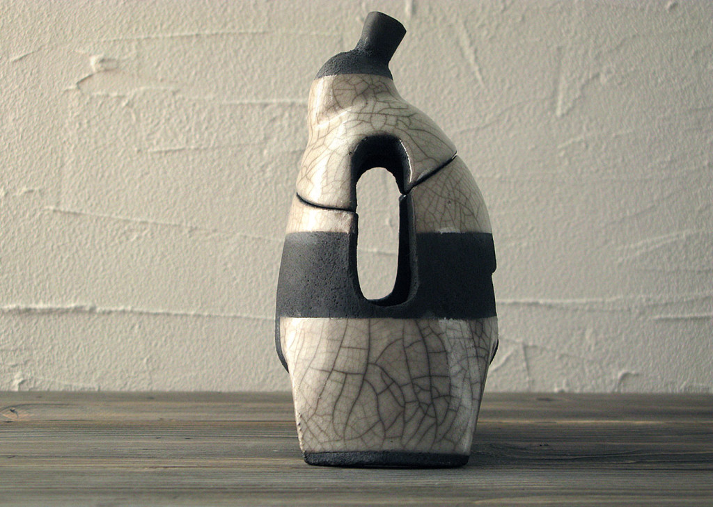 Sumo lantern side view - Dgsign Pottery