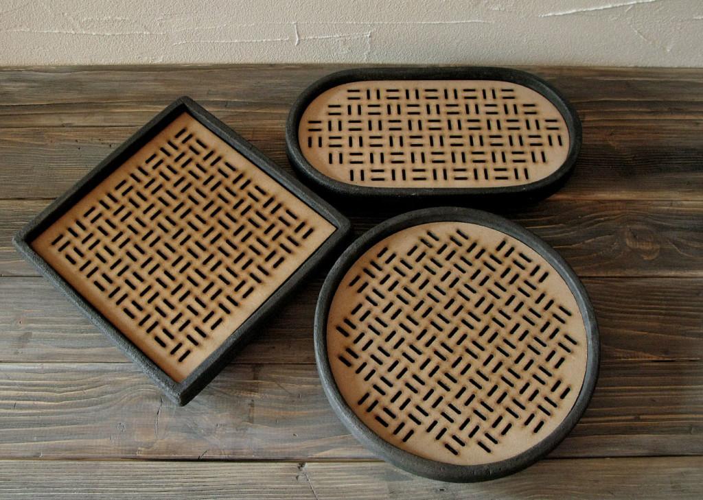 raku e wood tray collection DGsign Pottery
