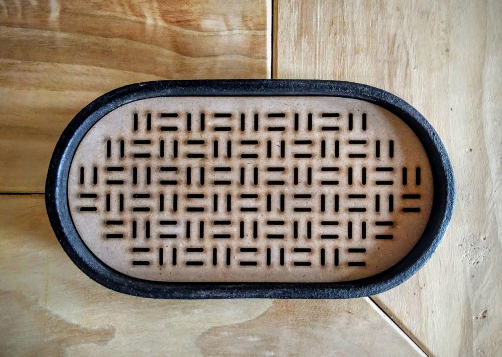 vassoio raku legno ovale - Dgsignpottery