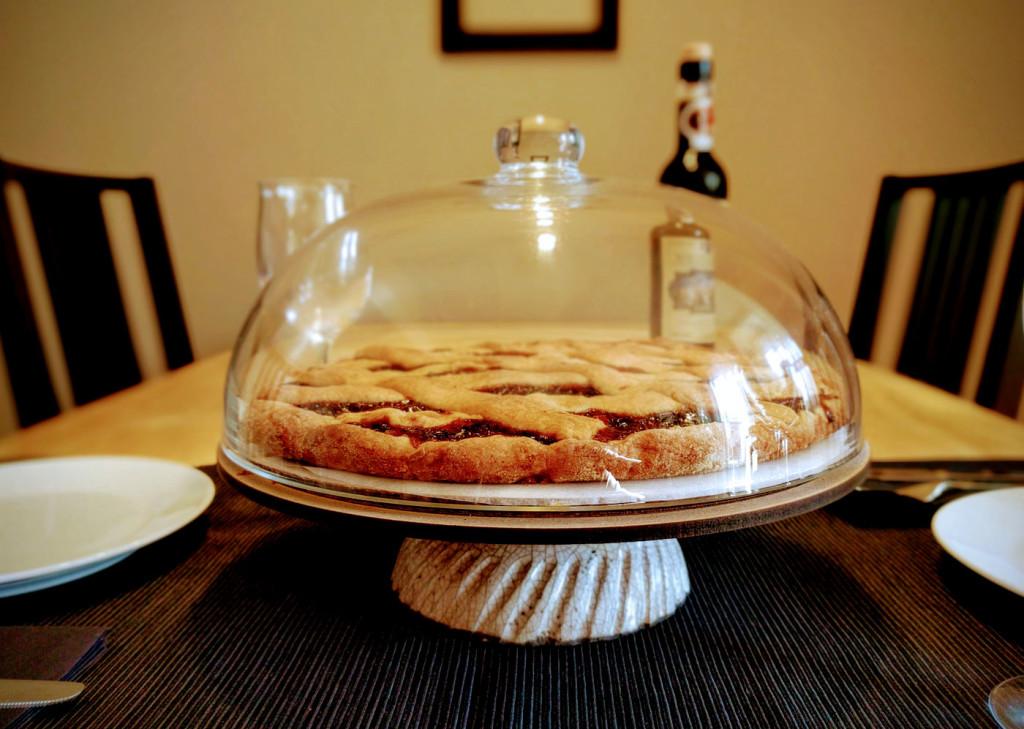 raku cake stand - dgsignPottery