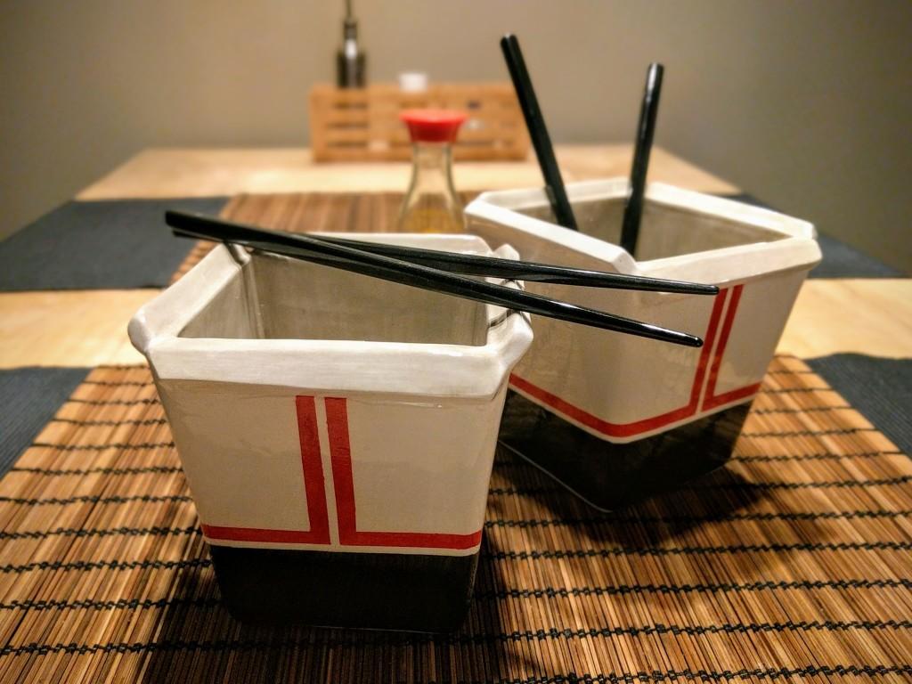 ceramic noodle box decorated