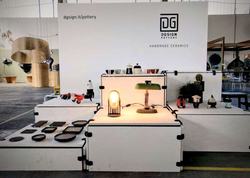 DIN Design at Fuorisalone - stand DGsign Pottery