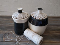 vasetti complementari ceramica-cotone