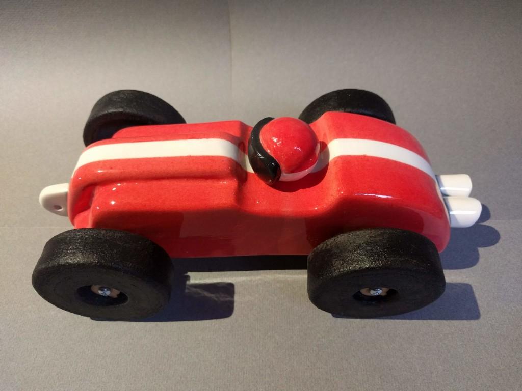 handmade ceramic toy car