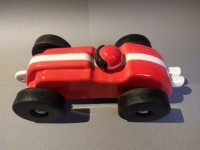 handmade ceramic toy car