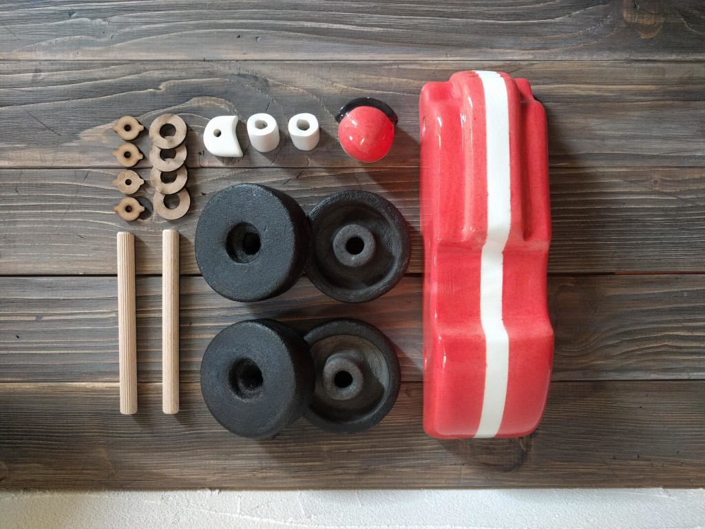 ceramica toy car parts to assemble
