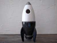 vintage toy rocket ceramic