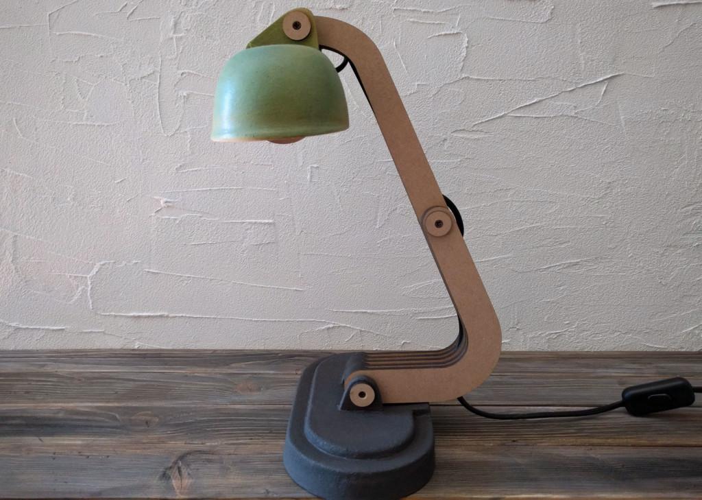 ceramic deco lamp side view
